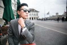 Bryanboy sporting a Cartier Watch in Zurich, Switzerland <3
