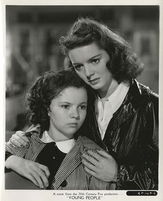 """Shirley Temple (1928-2014) and Arleen Whelan (1914-1993),  """"Young People"""", 1940"""