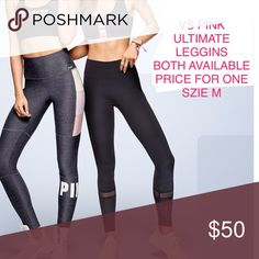 VS PINK ultimate leggings New in a shipping package. Size M . Price for one. PINK Victoria's Secret Pants Leggings