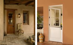 Dutch door is versatile and functional allowing fresh air in while keeping pets and/or kids either inside or outside. Door Picture, Exterior Doors, Oversized Mirror, Windows, Dutch Doors, Modern, Bees, Furniture, Image