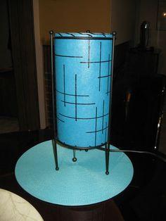 Vintage Mid Century Style Fiberglass Table Lamp Atomic Retro MCM | eBay