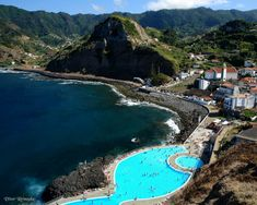 Porto da Cruz, Madeira Funchal, Beautiful Places To Visit, Wonderful Places, Places Worth Visiting, Portuguese Culture, Beautiful Islands, Beautiful Pools, Portugal Travel, Island Life