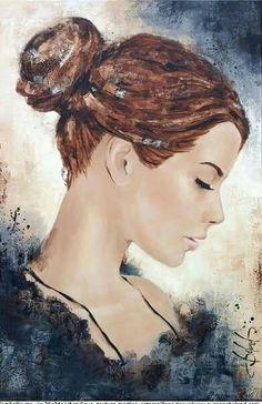 Watercolor Portraits, Watercolor Paintings, Art Visage, L'art Du Portrait, Girl Face Drawing, Small Canvas Paintings, Pintura Country, Chalk Drawings, Digital Art Girl