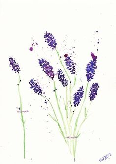Abstract Lavender Original Watercolor Art Painting 8x11 ...BTW,Please Check this out: http://artcaffeine.imobileappsys.com