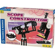 Scope Constructor - - Build your own microscopes, telescopes, and binoculars  - Assemble 28 different models with 147 building pieces  - For ages 8+