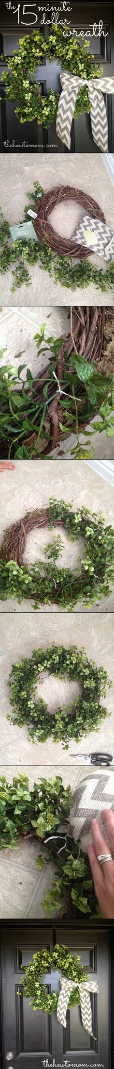 Easy and beautiful wreath from The How To Mom