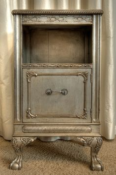 Silver painted furniture.