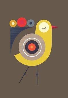 Circle inspired bird by ellen giggenbach – Bird Supplies Motif Art Deco, Bird Illustration, Fabric Painting, Bird Art, Doodle Art, Art Lessons, Folk Art, Modern Art, Graphic Art
