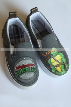 TMNT Painted Shoes- Reserved For Cherrybomb215,Low-top Painted Canvas Shoes