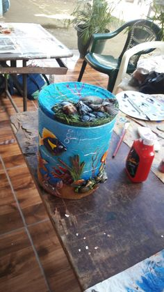 Recipiente reciclado Sra Alice Recycling, Rock Art, Tin, How To Make Money, Projects To Try, Canning, Crafts, Home Decor, Painted Tin Cans