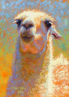 """Champagne"" (pastel, 7x5 inches)  click here to bid    Day 3 of my 30 paintings in 30 days  of September! This pretty llama is from a wild..."