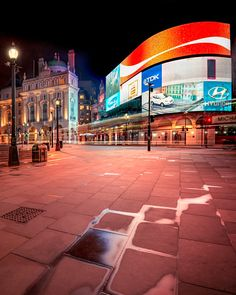 I never thought that I should see Piccadilly Circus abandoned for people, but at 5:43 in the morning it is possible. A single early bus passed while I shot the photo. Photo by: Jacob Surland, www.caughtinpixels.com