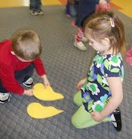 valentine's day game - each child gets half of a heart and must find the other half