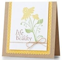 Life Is Full Of Beauty Card by @Cristina Kowalczyk - supplies and instructions included cards beauty beauty
