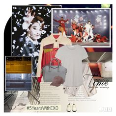 """""""#5YearsWithEXO"""" by rainie-minnie ❤ liked on Polyvore featuring The Row, Prada, J.Crew, James Perse, Givenchy, Vianel, kpop, EXO and exol"""