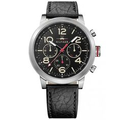 Relógio Tommy Hilfiger Masculino Couro Preto - 1791232