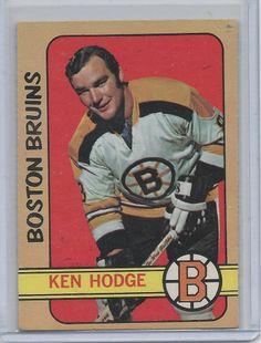 Ken Hodge 1972-73 OPC  Hockey Card # 49 Boston Bruins NM #BostonBruins