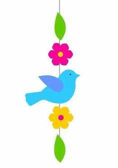Bird Crafts, Felt Crafts, Easter Crafts, Hobbies And Crafts, Diy And Crafts, Crafts For Kids, Arts And Crafts, Decoration Creche, School Decorations
