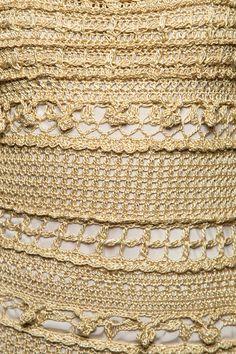 Vestido Crochet Longo Monaco Dourado - Vanessa Mon - vanessamontoro
