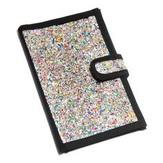 This amazing glitter passport cover is made by women in Colombia out of recycled chip bags and candy wrappers.