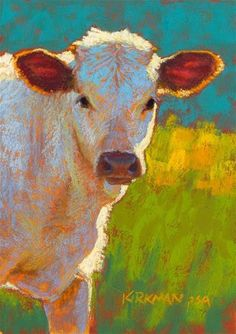 "DPW Fine Art Friendly Auctions - ""Miso"" (pastel, 7x5 inches) by Rita Kirkman"