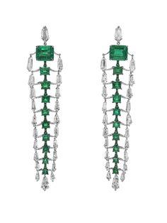 Boghossian Colombian emerald and diamond earrings - fine gold jewelry, bridesmaid jewellery, fashion gold jewellery *ad Jewelry For Her, High Jewelry, Luxury Jewelry, Jewelry Art, Jewelry Design, Women Jewelry, Unique Jewelry, Vintage Jewellery, Designer Jewellery