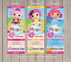 Lalaloopsy Invitation / Lalaloopsy Birthday by LittleRainbowDesign