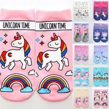 Cute 3D Print Cartoon Unicorn Socks Low Cut Ankle Women Casual Cotton Boat Socks