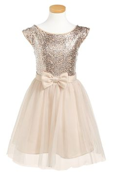 This pretty sequined holiday dress for little girls is on sale for $26