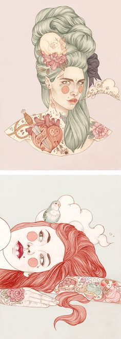 Tattooed Illustrations by Liz Clements | Inspiration Grid | Design Inspiration