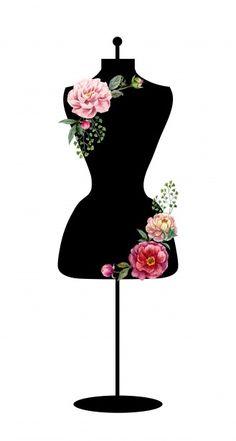 Free for private and commercial use Vintage Floral, Retro Vintage, Retro Images, Fashion Portfolio, Decoupage Paper, Dress Form, Public Domain, View Image, Free Stock Photos