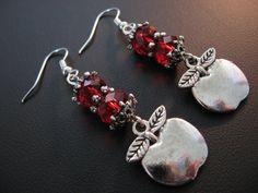 Teacher Jewelry Apple Jewelry Apple Earrings Teacher by jewelryrow, $12.95 https://www.etsy.com/listing/118473545/teacher-jewelry-apple-jewelry-apple