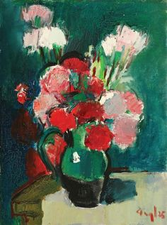 George Leslie Hunter, Red and white flowers