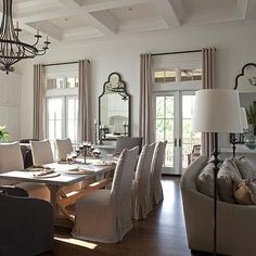 Zinc Dining Table, French, Kitchen, Geoff Chick Cottage Dining Rooms,  Living Room