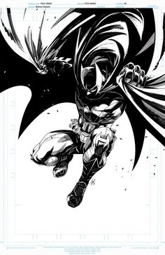 Batman by Fico Ossio Arte Dc Comics, Dc Comics Art, Anime Comics, Gotham City, Comic Books Art, Comic Art, Illustration Batman, Batman Tattoo, Univers Dc