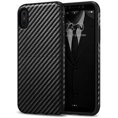 iPhone X Case Tasikar Good Grip Perfect Fit Case and Carbon Fiber Black Design for iPhone X  https://topcellulardeals.com/product/iphone-x-case-tasikar-good-grip-perfect-fit-case-and-carbon-fiber-black-design-for-iphone-x/  Premium Carbon Fiber texture designed offer good grip and comfortable touch; Form-fitted to maintain slim profile, no add large bulk, easy hold it in your hand and pocket-friendly Exact-fit, durable and Classy looking; Slim profile without sacrificing prot