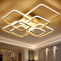 Square Large Led Chandelier Modern For Dining Room Living Room Bedroom Led Ceiling Chandelier Lighting Fixtures Home LED Lustres Chandelier Lighting Fixtures, Ceiling Chandelier, Modern Chandelier, Light Fixtures, Ring Chandelier, White Chandelier, Large Chandeliers, Pendant Lighting, False Ceiling Living Room