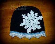 Snowflake Cloche - Crochet Pattern 17 - Cloche Pattern with Snowflake Trim - Newborn to Adult - INSTANT DOWNLOAD