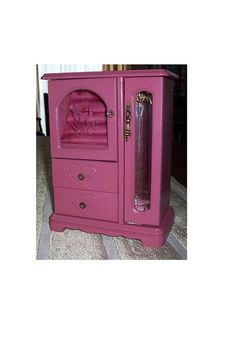 Rose Pink Wood Jewelry Armoire Wood Jewelry Box Rose Pink