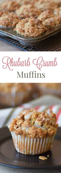 Frugal Food Items - How To Prepare Dinner And Luxuriate In Delightful Meals Without Having Shelling Out A Fortune Rhubarb Crumb Muffins Are Slightly Dense With A Nice Thick Buttery Crumb Topping That Stays Crispy On Top With A Slight Burst Of Sour Rhubarb Breakfast And Brunch, Breakfast Muffins, Breakfast Ideas, Breakfast Biscuits, Brunch Food, Breakfast Potatoes, Breakfast Bake, Mini Muffins, Breakfast Casserole