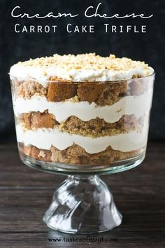 Cream Cheese Carrot Cake Trifle I Tastes of Lizzy T