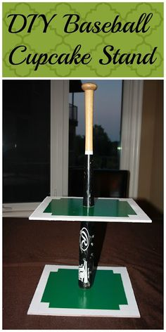 DIY Baseball Cupcake Stand Perfect for a baseball party