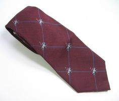 Vintage-Red-EQUESTRIAN-POLO-NECK-TIE-Mens-70-SILK-30-WOOL-Handwoven-England