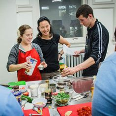 Synergies 2012 students teach students how to cook healthy easy meals