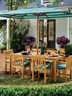 28 Steep Patio Umbrellas Designs Interiordesignshome.com Outdoor patio set with umbrella