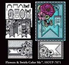 Using Color Me Card Topper and Spectrum Noir pens Cards by Daria