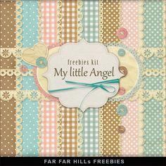FREE Freebies Backgrounds Kit - My Little Angel By Far Far Hill