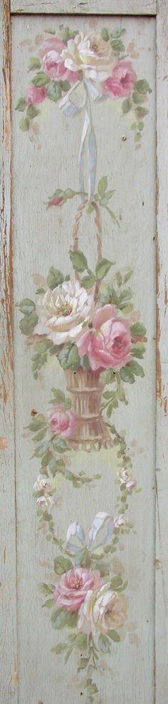 Painted Panel . Chateau De Fleurs . One Thing a Day until 'The Vintage Marketplace' . chateaudefleurs.blogspot.com