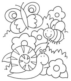 Summer Coloring Pages, Coloring Sheets For Kids, Colouring Pages, Printable Coloring Pages, Coloring Books, Hand Work Embroidery, Hand Embroidery Patterns, Drawing For Kids, Art For Kids