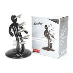 Bloc porte-couteaux voodoo – noir- 77€